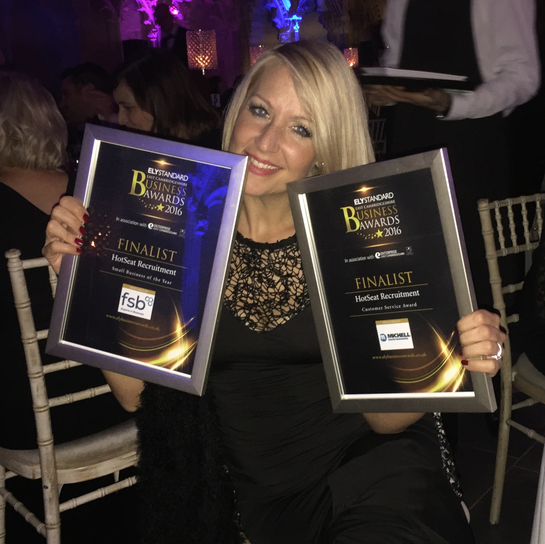 HotSeat Recruitment Makes the Finals of the Cambridgeshire Business Awards 2016